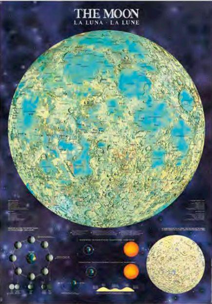 Mapa Lunar luminiscente