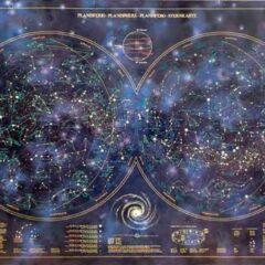 Poster Planisferio Luminiscente